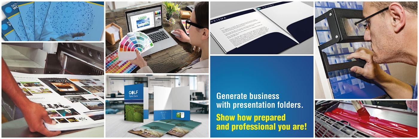 Presentation Folders - About Us
