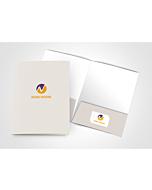 130Lb Uncoated Cover Presentation Folder